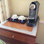 Complimentary Nespresso coffee