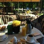 Outside breakfast terras