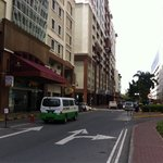 The street between Warisan Square and Centerpoint Shopping Mall