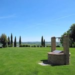 view from the Borgo toward the pool