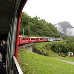 View from the Bernina express