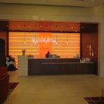 El lobby, alegre y moderno.