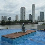Pool on 6th floor facing Chao Prao River