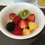 Lovely fresh fruit salad at breakfast