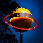 Tube Diner Planet Sign