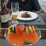 gazpacho y tartar de atún