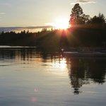 Sunset on Flat Head Lake