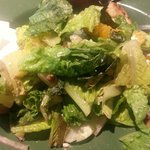 The biker chick salad, wilted lettuce and over cooked chicken. Just terrible