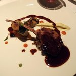 Lamb with purée of eggplants