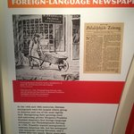 Sections on history of foreign language newspapers