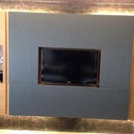 TV with inbuilt cabinets