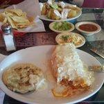 Chimichunga , papusa and fried quesadillas