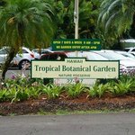 Parking lot across from the gardens