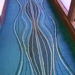 Poorly maintained carpet with stains