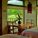 Inside the Talamanca cabin.