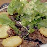 Galette aux gésiers de dinde, pommes de terre, noix, délicieuse!