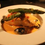 Wild Salmon in a Mussel Cream Sauce