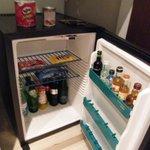 fridge in the room