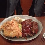 Plantation combo - fried chicken and ribs