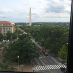 View of the Washington Monument from the window in the sitting area.
