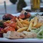 the chicken shish plate