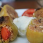 the stuffed peppers
