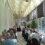 Breakfast was taken in the long room.  Or was it the orangery?  Conservatory?