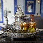 Welcome Moroccan mint tea.