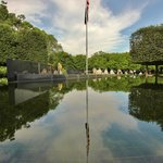 Reflecting pool in east aspect of memorial