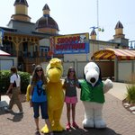 Little V and Me hanging out with Woodstock and Snoopy. :)