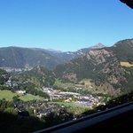 vue du balcon, sur le village