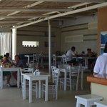 The beach bar restaurant
