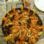 Paella al ristorante La Quercia