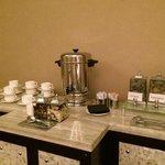 Tea service in spa sanctuary