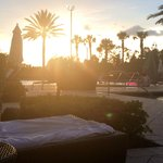 Sunset view from our cabana