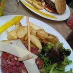 Tartare à l italienne, et burger à l italienne