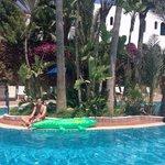 Swimming pool island