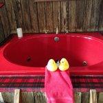 Cowboy's Delight hot tub!