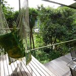 plenty of hammock swing chairs to relax on