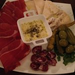 Meat and cheese plate. Yummy!