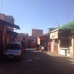 Streets leading up to the riad