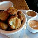 Fried Pickels - yum!