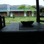 Vista desde el comedor de la cabaña grande