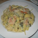 Gulf shrimp sauteed with white wine, lemon, parsley, garlic butter and capers over linguine