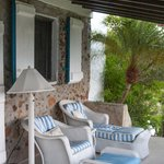 Porch of our sea-view cottage (Eleuthera)