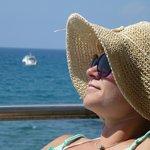 me posing in tarrace on the beach :)