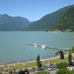 View of Harrison lake from an East Tower balcony