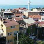 Vista da sacada de frente para o Mar de Marmara
