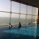 View of the Arabian Sea from the inifinity pool