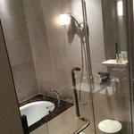 My bathroom - standard room. Very luxurious.